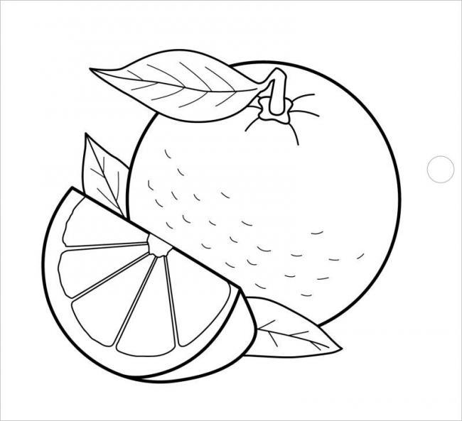 hình vẽ trái cam vàng rất tốt cho sức khỏe