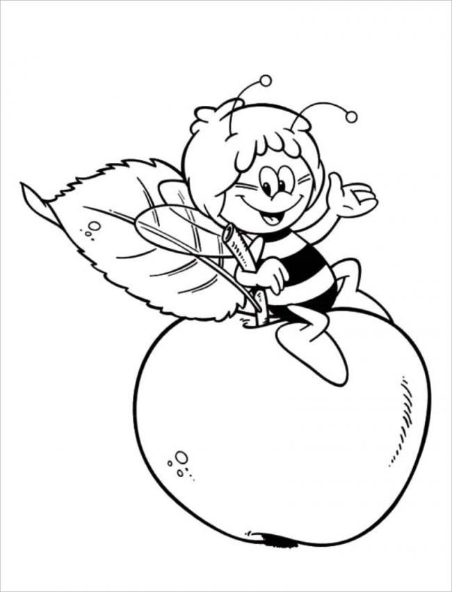 tranh-to-mau-qua-tao-và-chu-ong