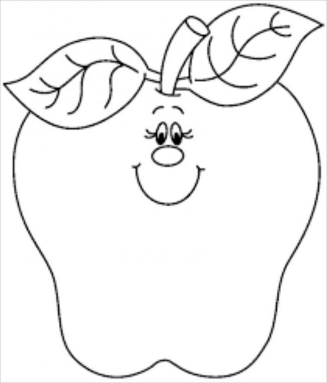 Tranh tô màu quả táo nữ