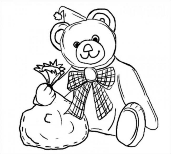 Bác gấu có túi quà to quá nè