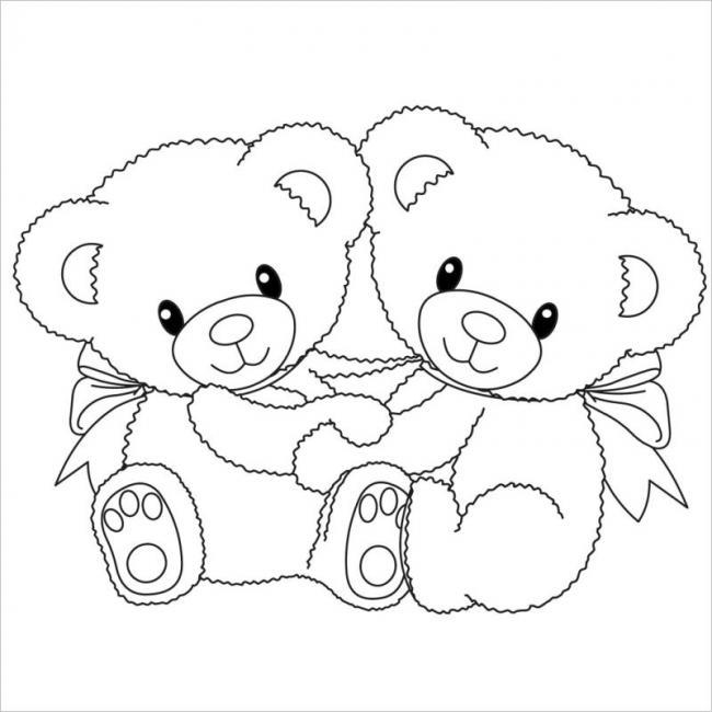 Hai bạn gấu điệu đà với nơ buộc cổ nè
