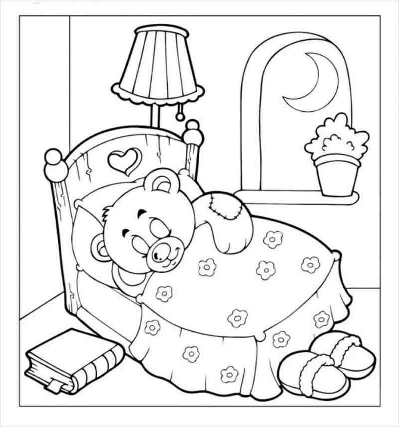 Hình ảnh Gấu con ngủ ngoan