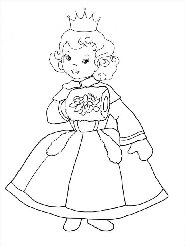 Công chúa tóc xoăn đội vương miện