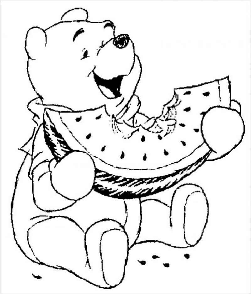 Gấu Pooh rất thích ăn dưa hấu