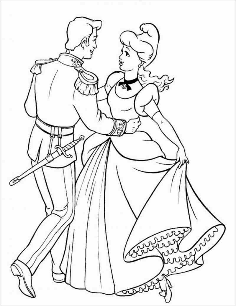công chúa lọ lem và hoàng tử hạnh phúc trong điệu nhảy nhịp nhàng