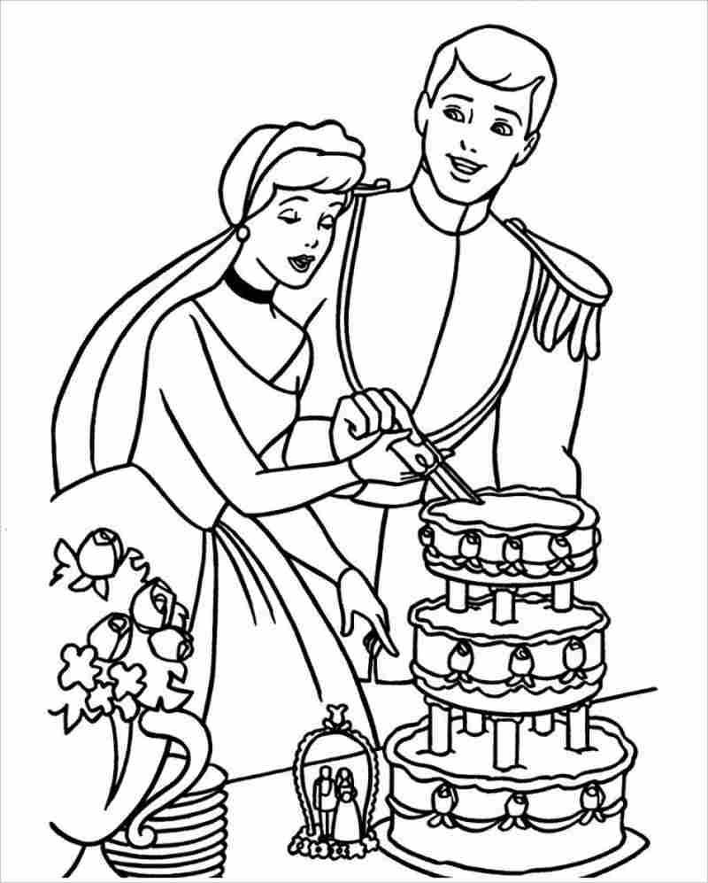 công chúa lọ lem và hoàng cắt bánh cưới