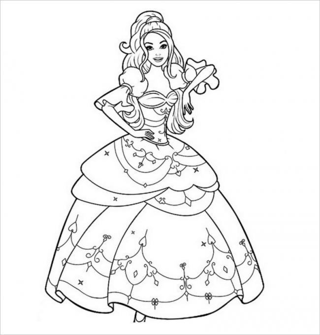 Hình ảnh công chúa đẹp Barbie diện váy lộng lẫy