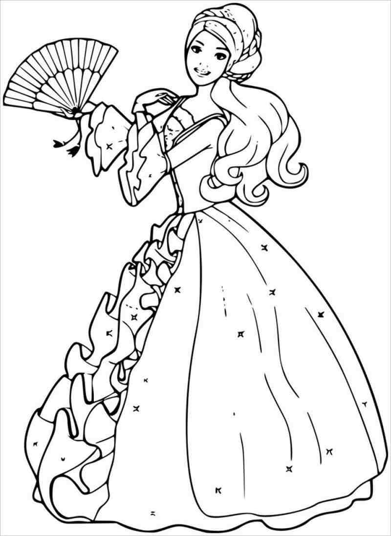 Barbie diện váy và múa quạt thật đẹp