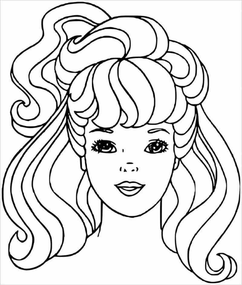Khuôn mặt xinh xắn, dễ thương của Barbie
