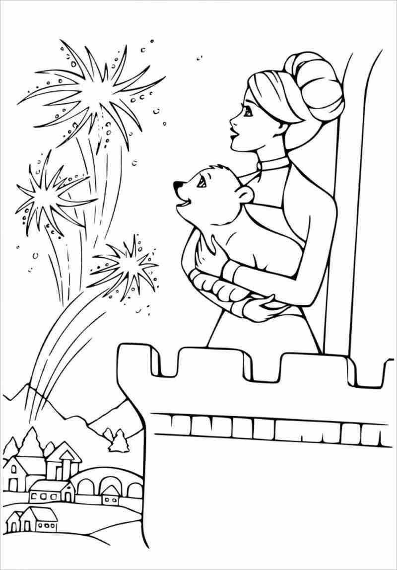 Barbie cùng cún cưng ngắm pháo hoa