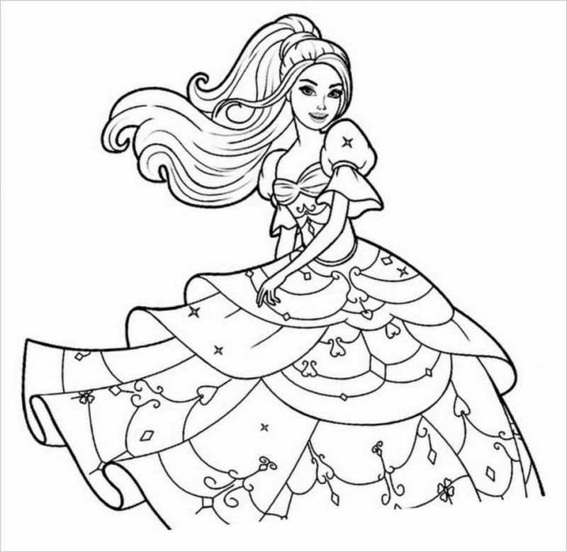 công chúaBarbie với bộ váy nhiều tầng
