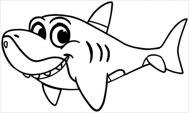 Tạo hình cá mập dễ thương