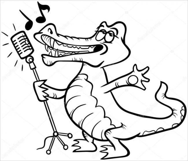 Hình ảnh chú cá sấu yêu đời