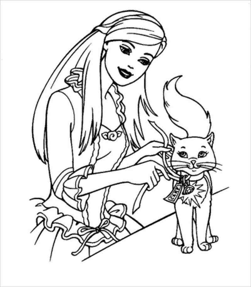 Barbie và mèo cưng