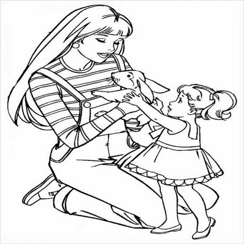 hình ảnh Barbie cùng các bạn nhỏ đáng yêu