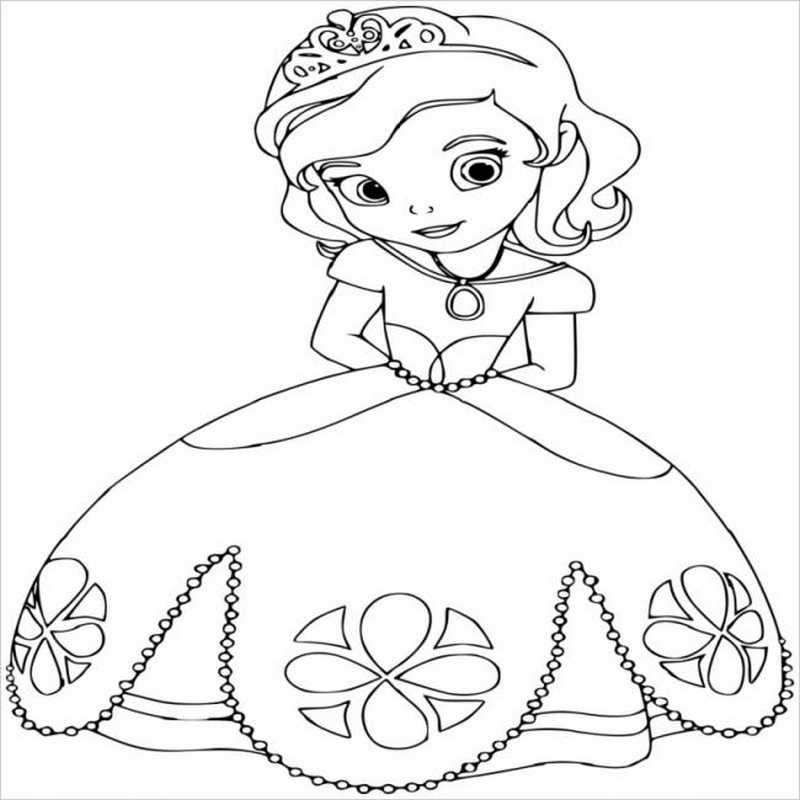 Công chúa Sophia đội vương miện