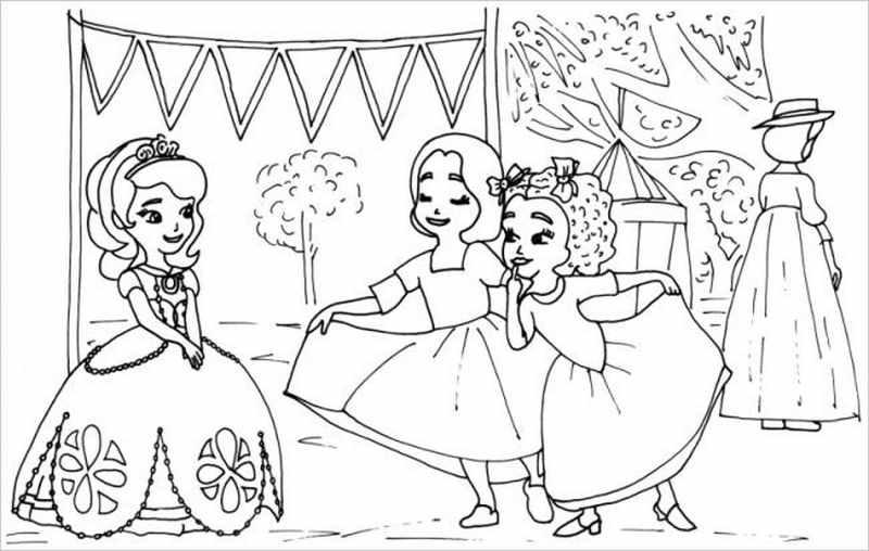 hình ảnh Sophia vui chơi cùng các bạn gái