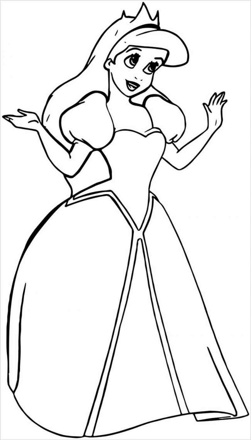 Công chúa mặc váy lộng lẫy