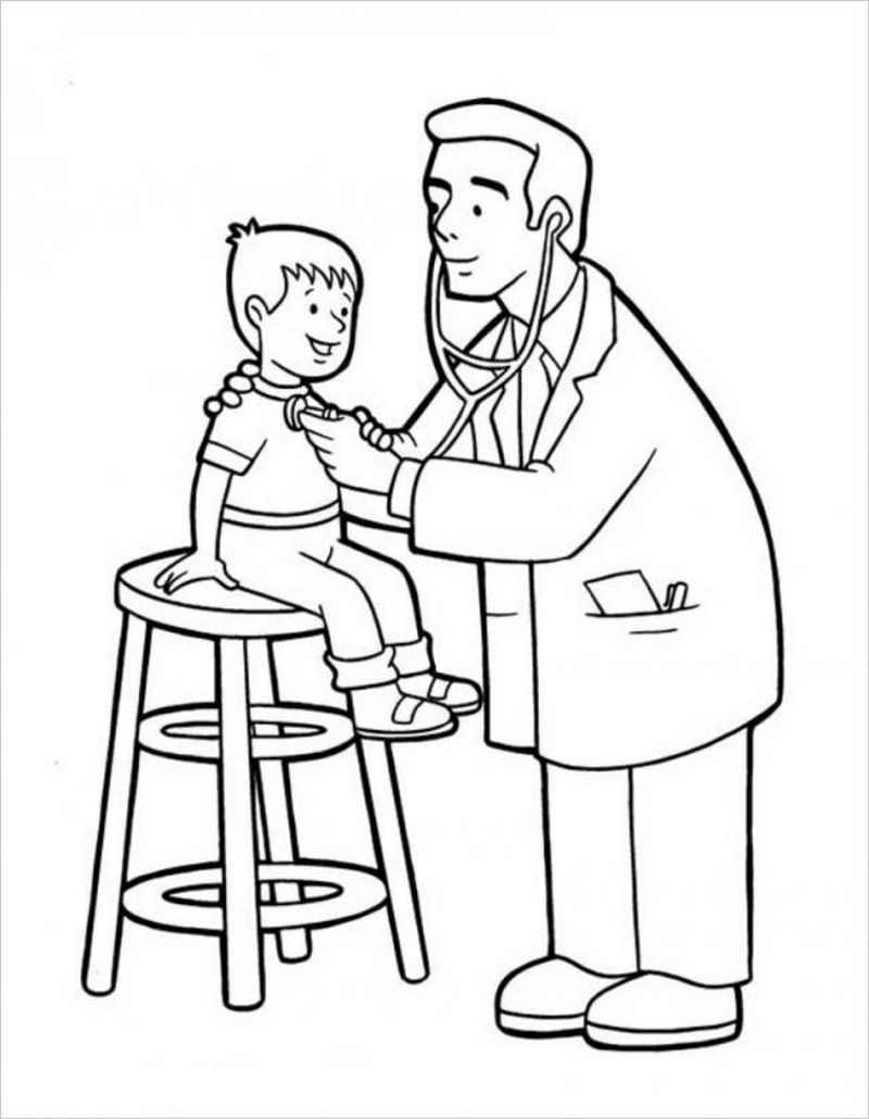 Con thở mạnh để bác sĩ nghe xem cơ thể con đang nói gì nhé.