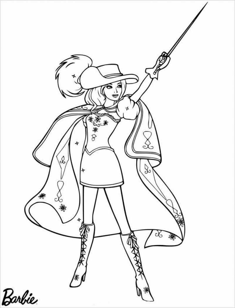 hình ảnh Barbiehóa trang thành hiệp sĩ