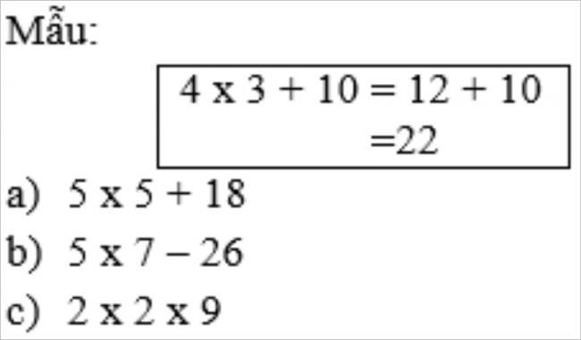 Giải bài tập toán lớp 3: Ôn tập các bảng nhân trong sách giáo khoa
