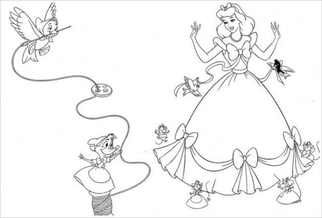 Các bạn nhỏ giúp Lọ lem diện bộ váy lộng lẫy
