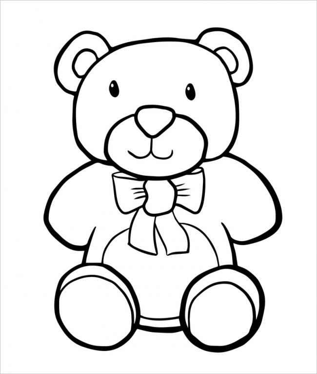 Gấu con thắt nơ