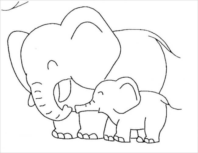 hình ảnh voi mẹ và voi con