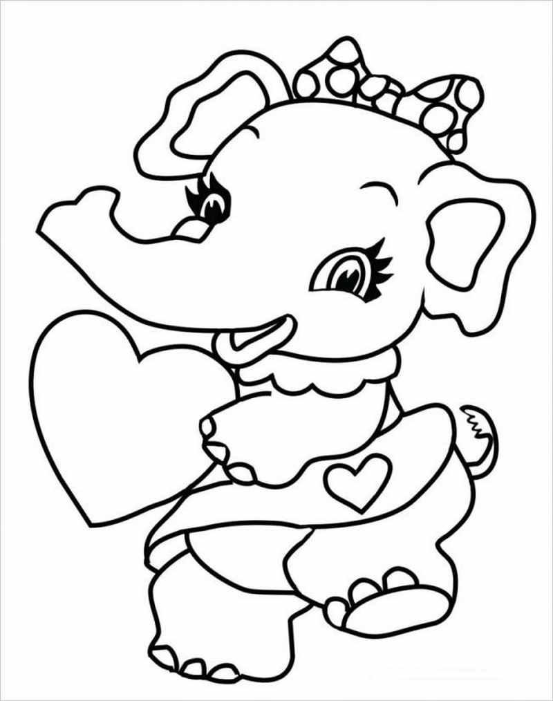 hình ảnh bé voi cài nơ