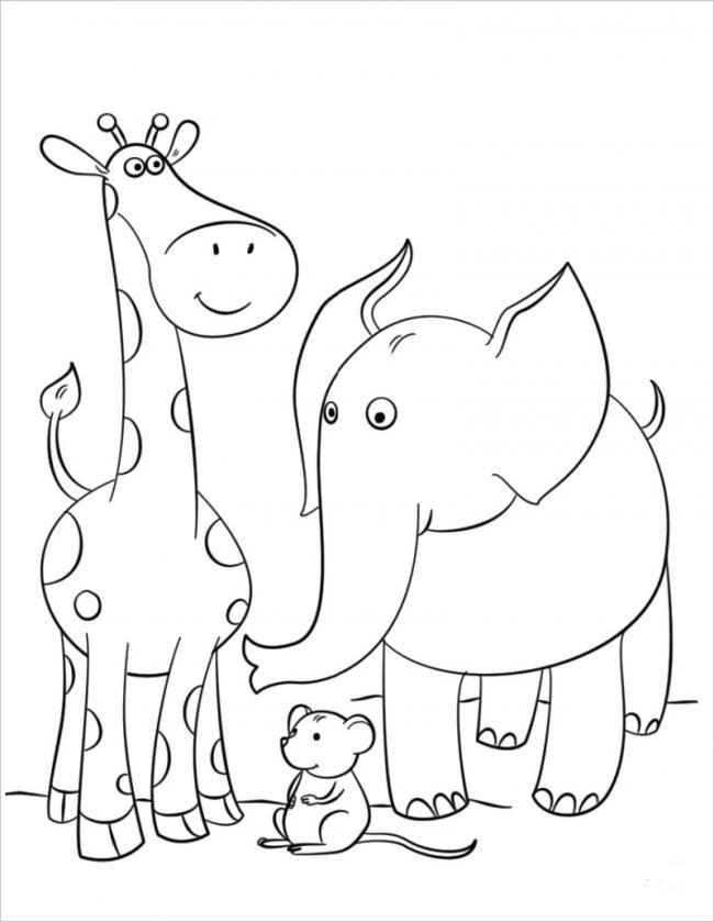 hình ảnh voi con và các bạn