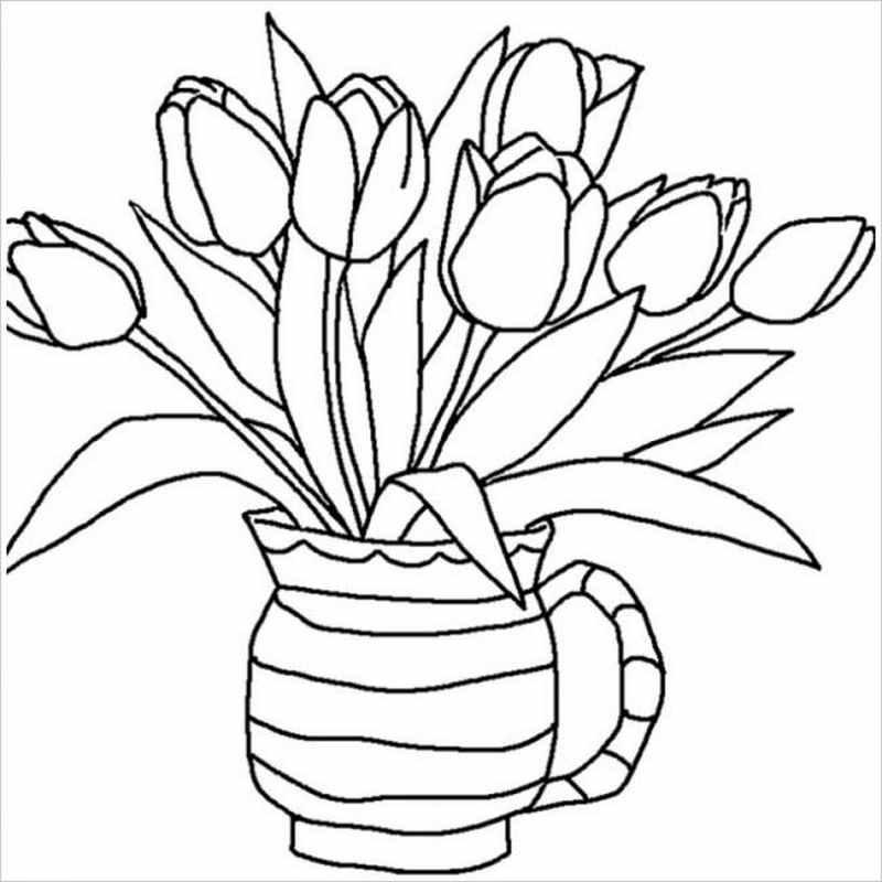Bình hoa tulip trang trí trong nhà thật rực rỡ