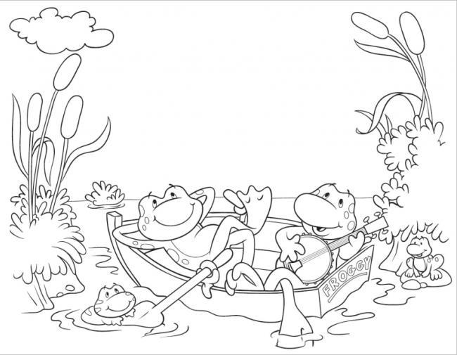 ếch đánh đàn và ca hát