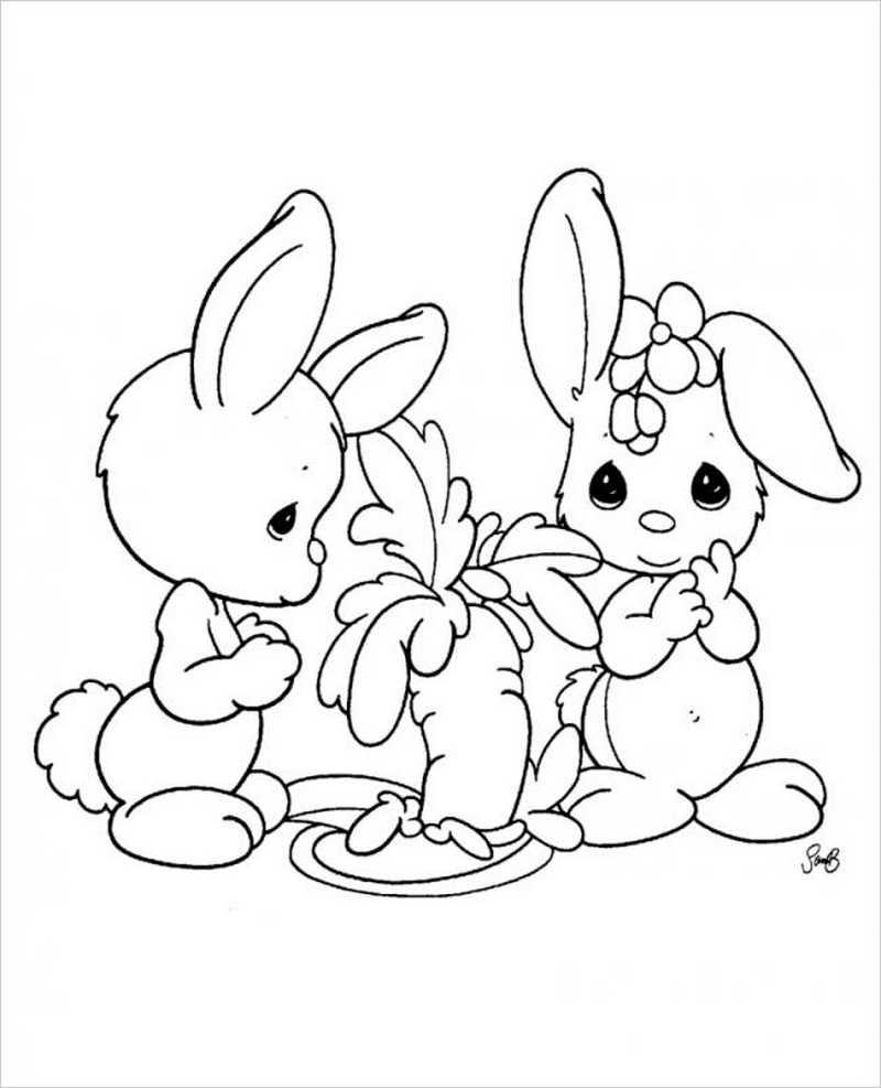 hình ảnh hai bạn thỏ và củ cà rốt
