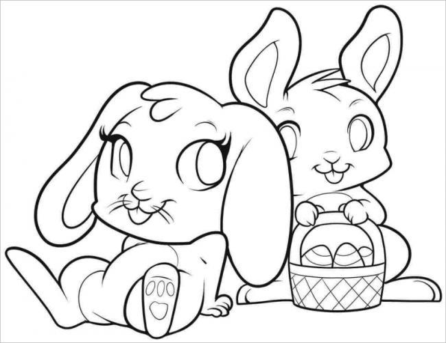 hình ảnh hai con thỏ