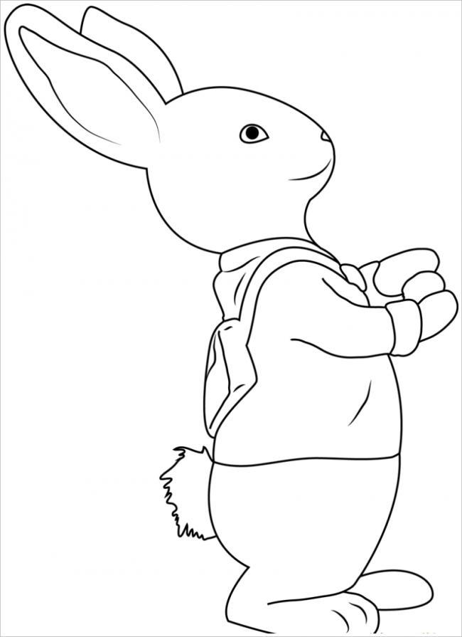 hình ảnh thỏ đeo cặp đến trường