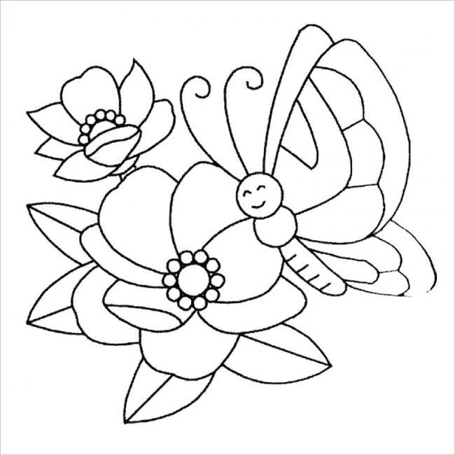 hình ảnh bướm và hai bông hoa