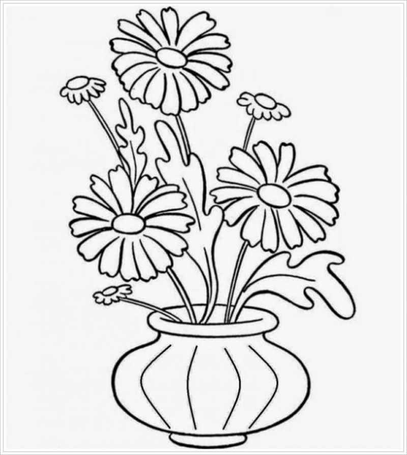 Lọ hoa hình quả bí cắm hoa đồng tiền đơn giản