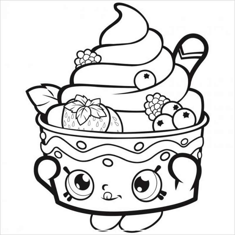 hình ảnh kem ly hoa quả