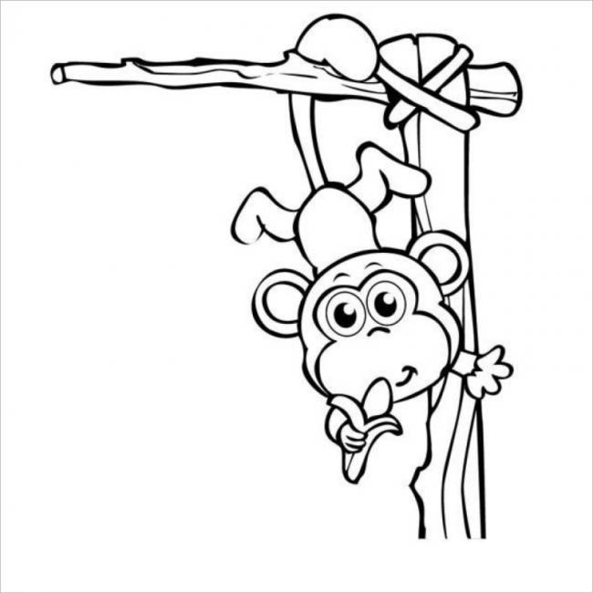 hình ảnh khỉ ăn chuối