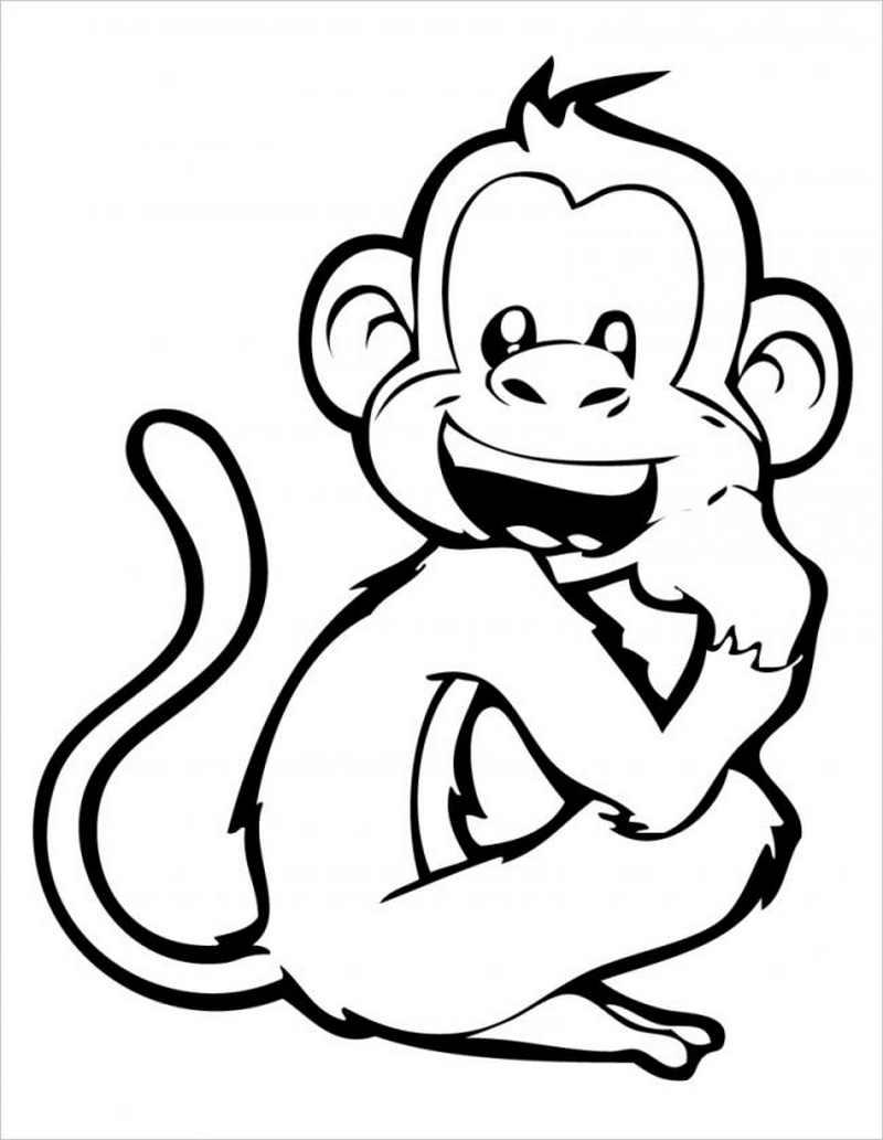 Khỉ con tinh nghịch nhe răng