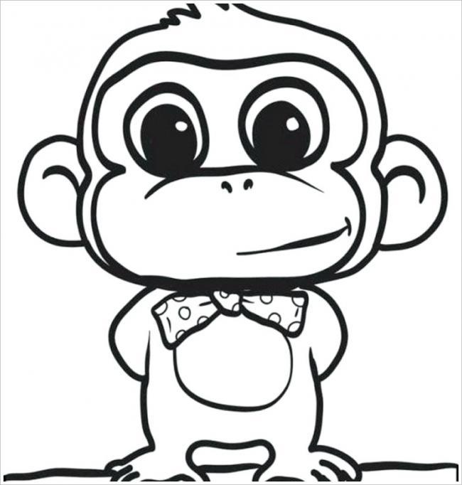 hình ảnh khỉ thắt nơ