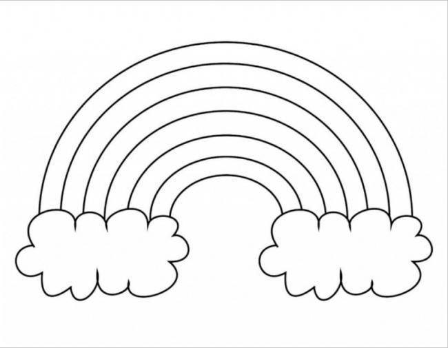 Cầu vồng và hai đám mây