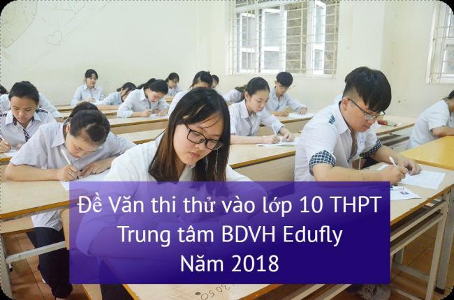 học sinh làm đề Văn thi thử vào lớp 10 trung tâm BDVH Edufly