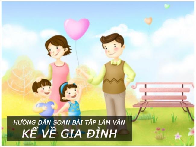 Hướng dẫn soạn bài tập làm văn lớp 3 Kể về gia đình
