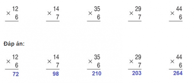 Giải bài luyện tập trang 34 sách giáo khoa toán lớp 3