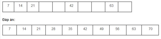 Giải bài tập toán lớp 3 phần bảng nhân 7 trang 31 sách giáo khoa