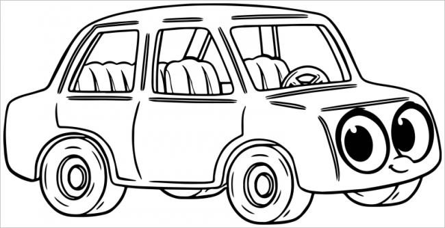 Chiếc ôtô với bóng đèn sáng