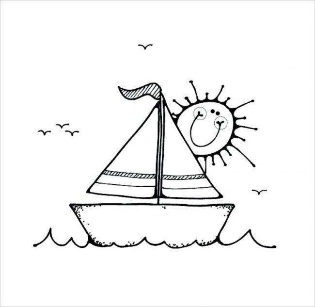 hình ảnh thuyền và mặt trời