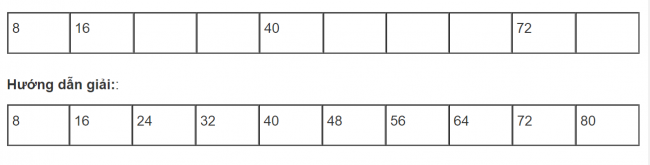 Giải bài tập toán lớp 3: Bảng nhân 8 trang 53 sách giáo khoa bài 3