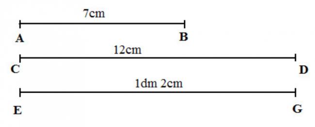 Giải bài tập toán lớp 3 phần thực hành đo độ dài trang 47 sách giáo khoa bài 1